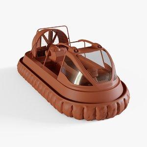 3D hovercraft boat model