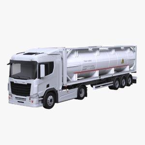 euro truck iso 3D model