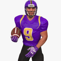 American Football Player 2020 V5 Rigged