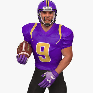 rigged football player 2020 3D