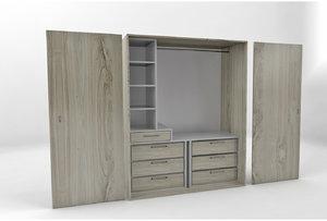 3D melamine wardrobe