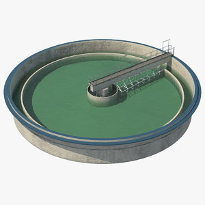 3D wastewater clarifier water