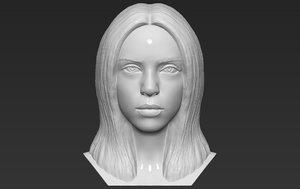 billie eilish bust printing 3D
