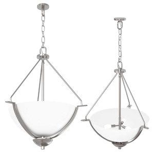 bravo three-light inverted pendant 3D model