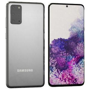3D galaxy s20 grey