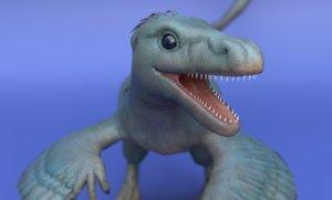3D dinosaur dino velociraptor