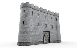 3D model stone tower