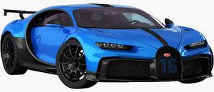 realistic bugatti chiron pur 3D model