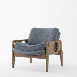 3D model tete armchair chair sergio