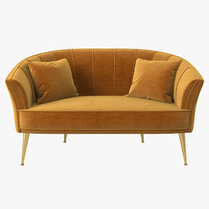 3D brabbu covet lounge seat model