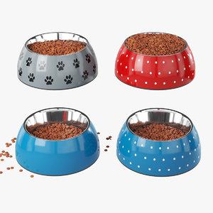3D model pet bowls
