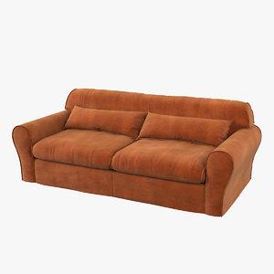 3D housse leather sofa baxter