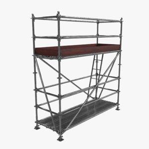 scaffolding metallic 3D