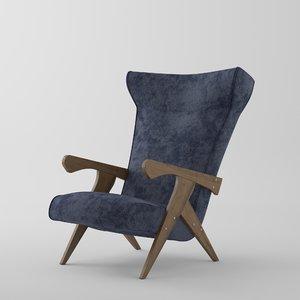 3D model cuca chair zanine caldas