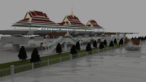 3D bts sky train station