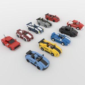 3D lego mini racers