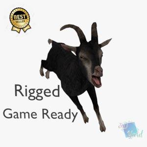 ready black sheep goat 3D