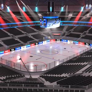 3D hockey arena model