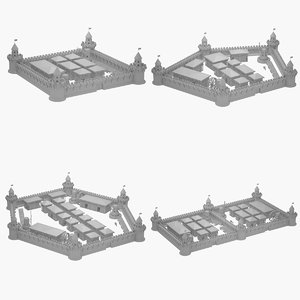 3D medieval city