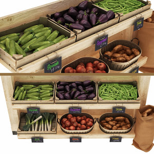 3D greengrocer rack 5