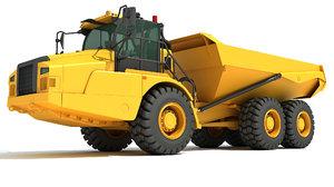 articulated truck 3D model