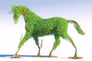 3D horse tree hd