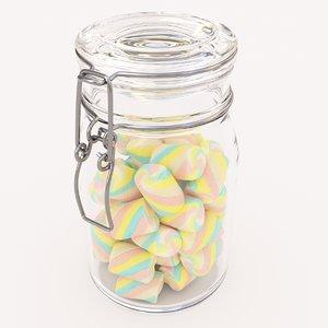 3D candy jar model