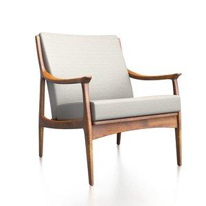 modern danish chair lounge 3D