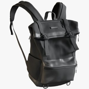 3D realistic men s backpack model