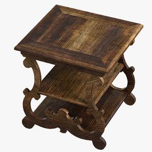 table hooker treviso 3D model