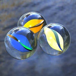 3D model marbles lightwave colors