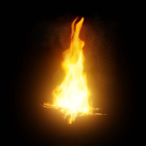 bonfire flame animation 3D model