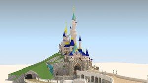 3D model sleeping beauty castle