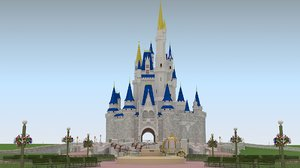 cinderella castle landscape 3D model