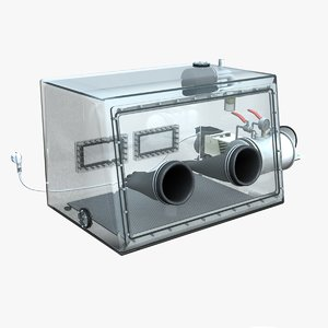 vacuum glove box acrylic 3D
