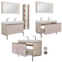 Furniture set Geberit Citterio 118 Dark / Light Oak