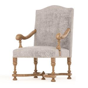 3D anna armchair model