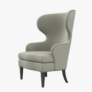3D wing chair model