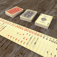 Playing Cards SERIES 1800 - Poker Card Set 3 - single textures