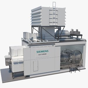 3D siemens gas turbine package model