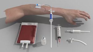 3D medical equipment syringe model