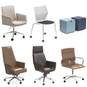 office chair stool 3D model