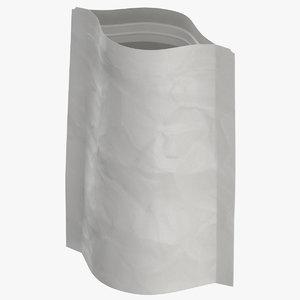 3D stand zipper pouche 28g model