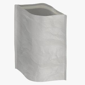 stand zipper pouche 350g 3D