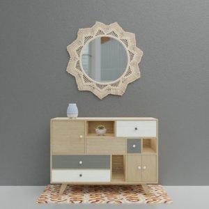 3D model macrame mirror sideboard