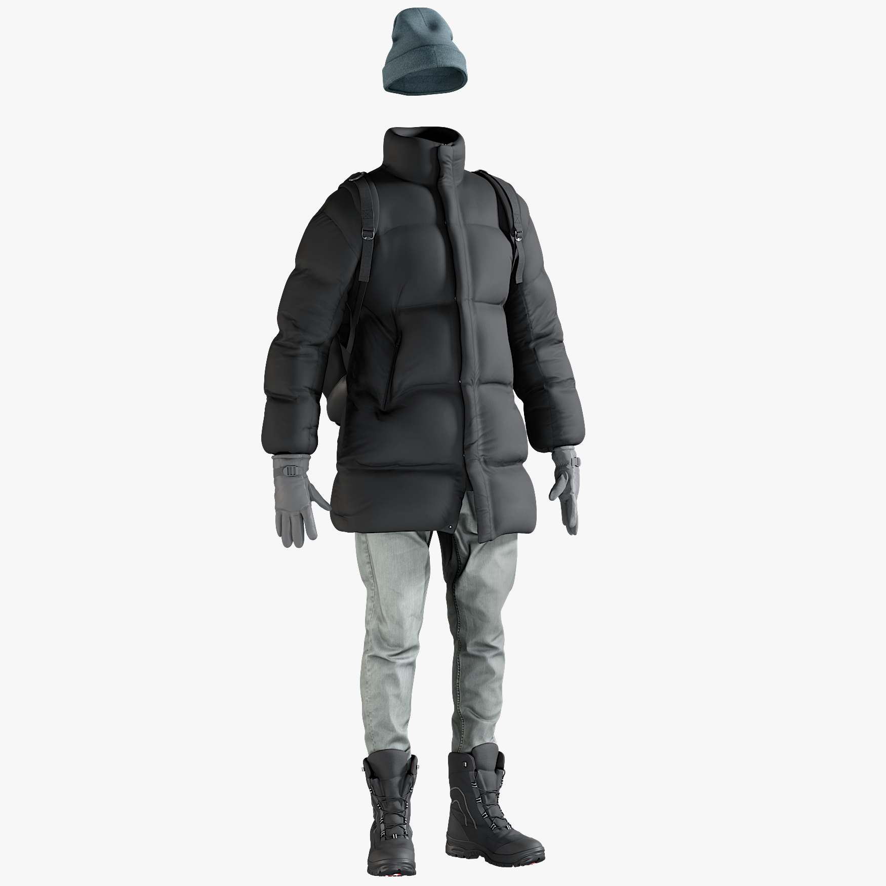 realistic men s winter 3D