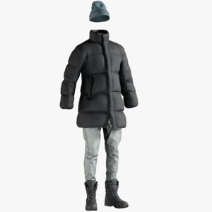 realistic men s coat model