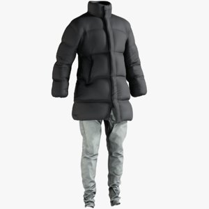 3D realistic men s coat model