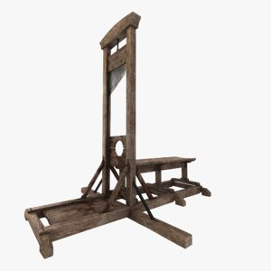 3D medieval guillotine