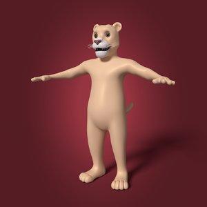 cartoon tiger model